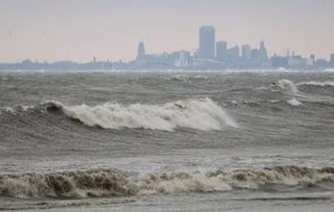 While New York is moving to keep an especially toxic class of chemicals from the state's drinking water, such as Buffalo gets from Lake Erie, Washington's role is even more crucial. (Sharon Cantillon/News file photo)