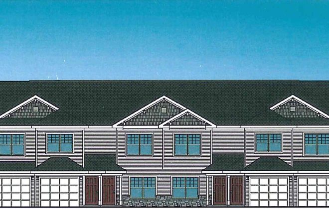 Rendering of one of the proposed building types for the 299 Leydecker apartment project in West Seneca. (Image courtesy of Dato Development)