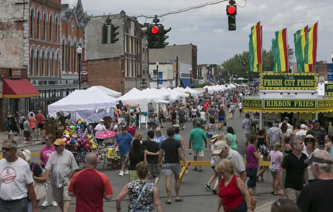 Downtown streets in the City of Tonawanda are cordoned off for Canal Fest. (News file photo)