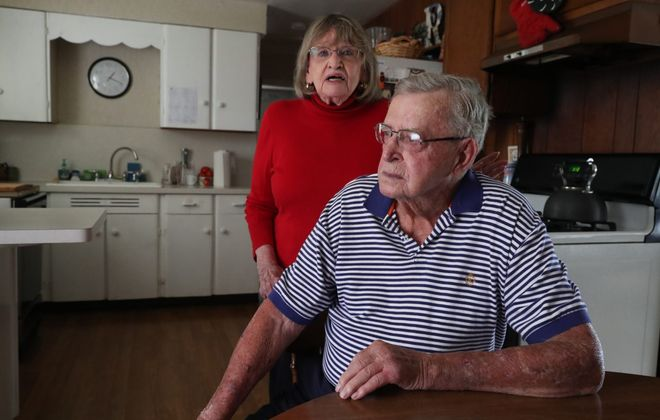 Dianne and Chuck Ramsay at their home in North Tonawanda, on Tuesday, July 30, 2019. The couple said they are unhappy about the imminent closing of the Geriatric Center of WNY at DeGraff Memorial Hospital, where they are clients. (John Hickey/Buffalo News)