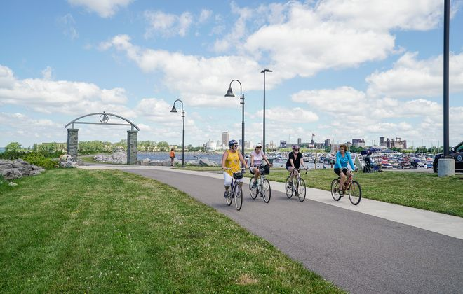 Buffalo boasts several scenic waterfront bike routes fit for beginners. (Dave Jarosz)