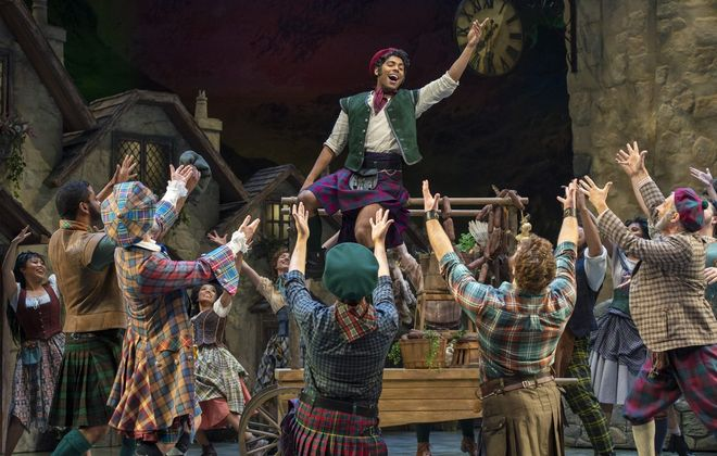 "Matt Nethersole steals the show as Charlie Dalrymple in ""Brigadoon"" at the Shaw Festival. (Photo courtesy of David Cooper)"