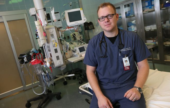 """If somebody comes in with chest pain, we would never just blow them off and send them home,"" said Dr. Joshua Lynch, a UBMD emergency medicine physician who led the creation of Buffalo MATTERS, a novel program to better address opioid overdose and withdrawal treatment in hospitals across the region. (Sharon Cantillon/News file photo)"