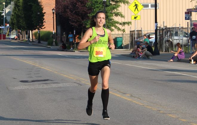 """Kelsey Gratien of Amherst won the Loughran's 5K last year on her way to Buffalo News Runner of the Year honors. """"You have a competition where you want to win races in your age group, but you also have a set time that is your best and if you can beat that, it's awesome, too,"""" says the 32-year-old mother of three. (Courtesy of Olivia Belter)"""