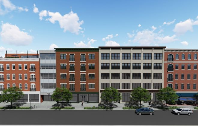 A rendering of the residential component of Mill Race Commons. (Image courtesy of the Buffalo Planning Board)