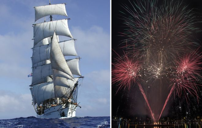 A visit from 12 tall ships and the usual range of fireworks displays are on tap for this week in Buffalo. (via Tall Ships; Chuck Alaimo/Special to The News)
