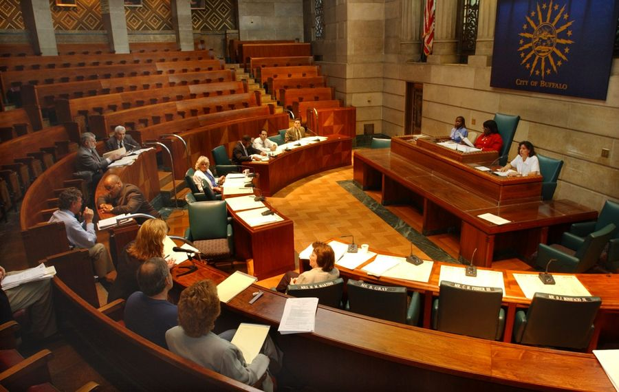 Citizens can speak during Buffalo Common Council committee meetings like this one, but New York's weak Open Meetings Law does not guarantee them the right to speak during the action meetings when lawmakers decide matters. (News file photo)