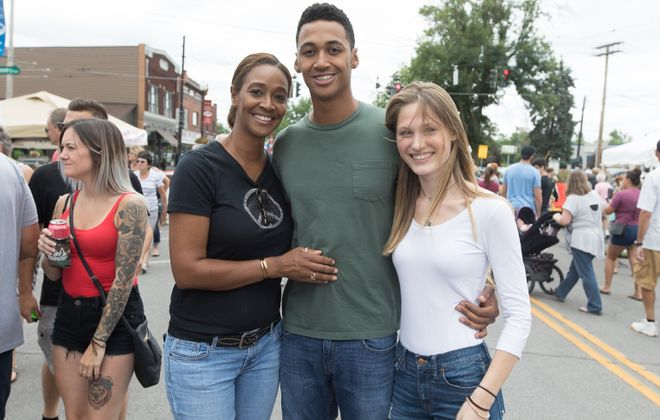 Smiling faces at the 2018 Canal Fest of the Tonawandas, which brings together the city and town of Tonawanda with North Tonawanda by the Erie Canal for eight days of festivities. (Chuck Alaimo/Special to The News)