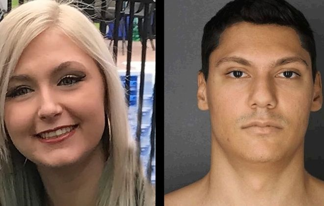 Shane Casado, right, has been charged with killing Rachael Wierzbicki. (Buffalo Police Department and file photos)