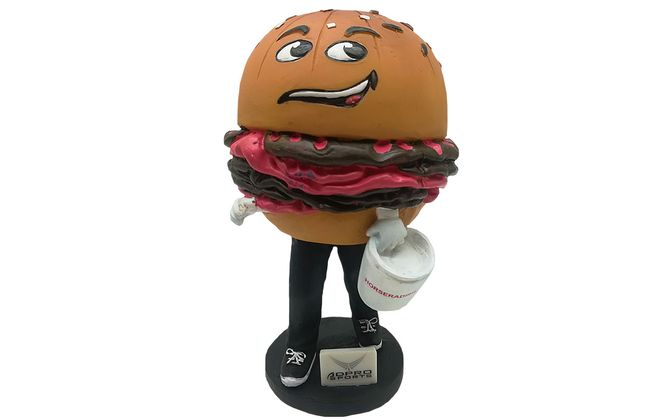 The beef on weck bobblehead will be given away Tuesday. (Courtesy of Buffalo Bisons)