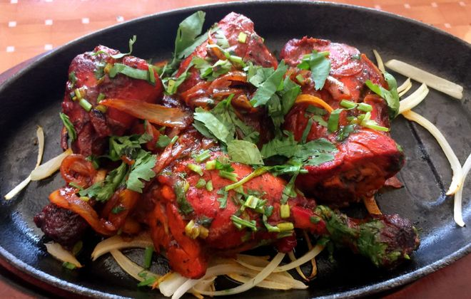 Tandoori chicken at Buffalo Tikka House. (Andrew Galarneau/Buffalo News)