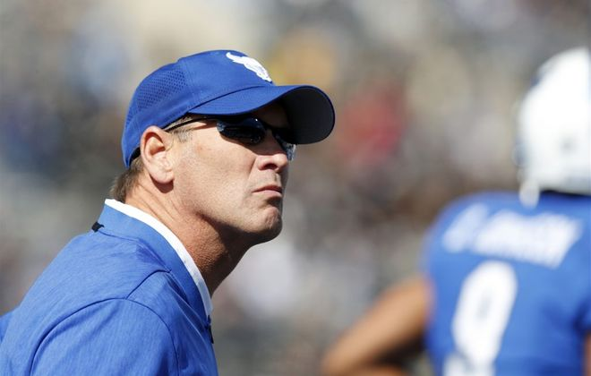 University at Buffalo football coach Lance Leipold. (Mark Mulville/News file photo)