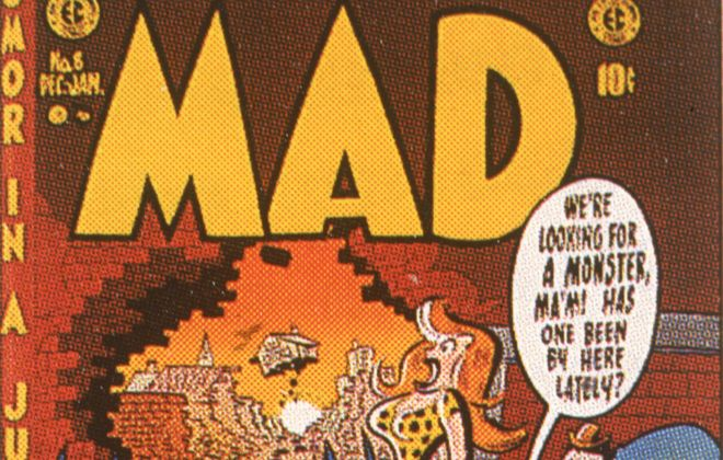 Mad magazine will cease publishing new material this year. This is part of a 1953 cover. (Getty Images)