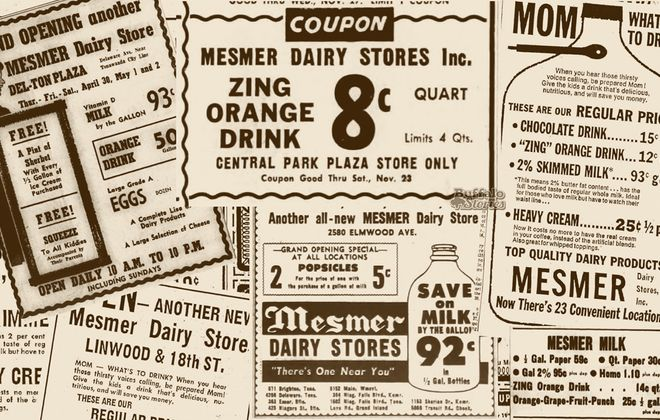 Mesmer's ads from Steve Cichon's Buffalo Stories archives.