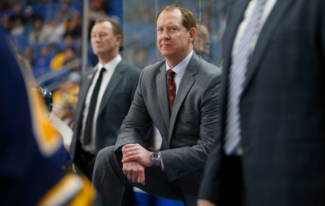 Sabres coach Phil Housley. (Harry Scull Jr./Buffalo News)