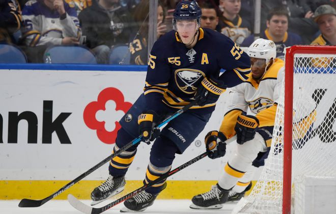 Rasmus Ristolainen remains on the Sabres roster. (Harry Scull Jr./News file photo)