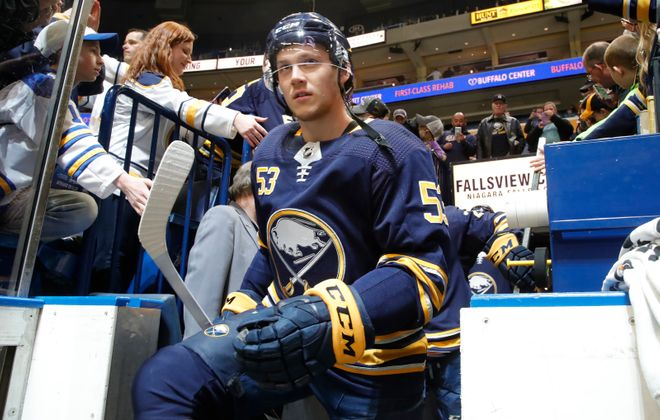 Jeff Skinner's 40-goal season led to a big payday (Harry Scull Jr./News file photo).