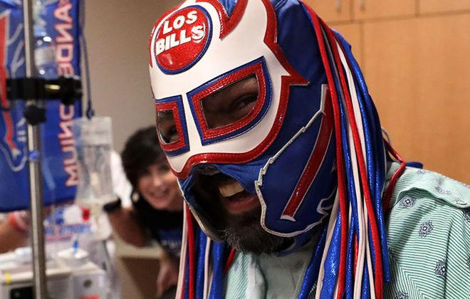 Ezra Castro — more commonly known in Buffalo as Pancho Billa — is being treated at MD Anderson Cancer Center in Houston. (James P. McCoy/Buffalo News)