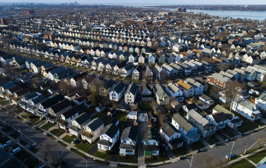 The number of homes for sale is still at close to a 20-year low. (Derek Gee/Buffalo News)