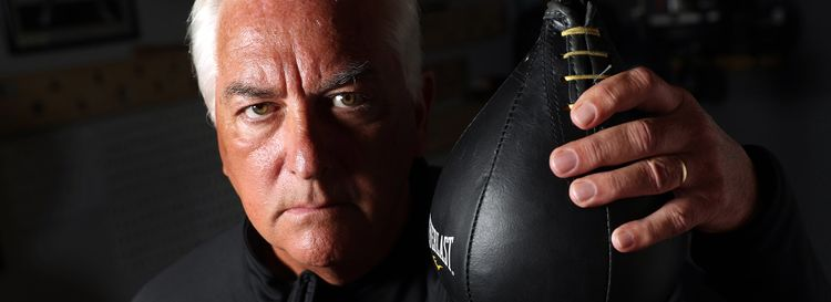Former Rep. Jack Quinn was diagnosed with Parkinson's disease four years ago. He kept it a secret for most of that time. About eight months ago, he began getting help at Parkinson's Boxing. (Sharon Cantillon/Buffalo News)