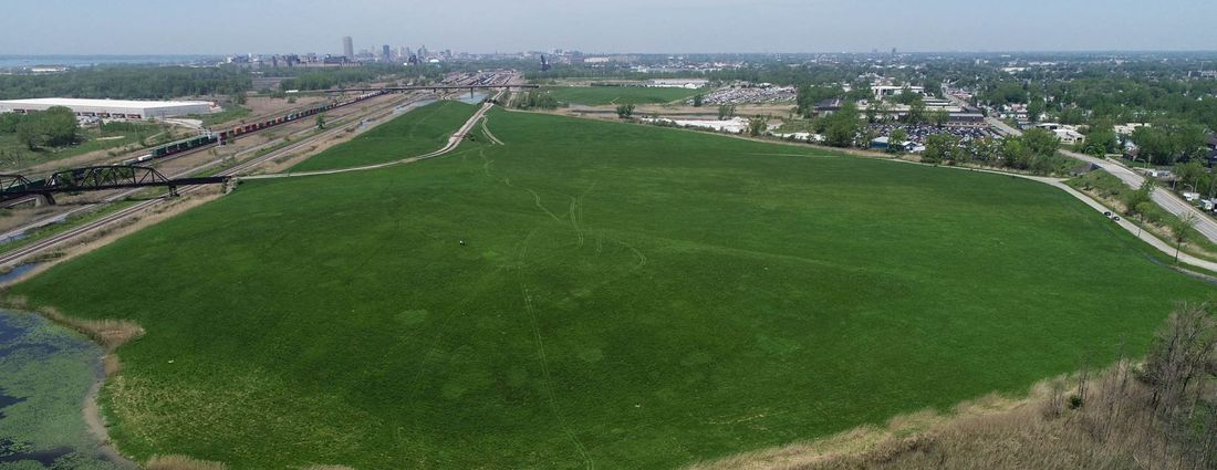 A 107-acre plot of land on the former Republic Steel site in South Buffalo is the site of a possible future golf course designed by Jack Nicklaus. (Derek Gee/News file photo)