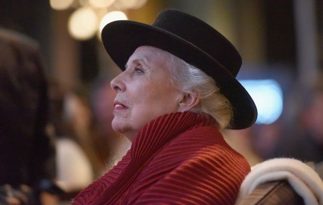 "Joni Mitchell at ""Joni 75 -- A Birthday Celebration."" (Photo by Vivien Killilea/Getty Images for The Music Center)"