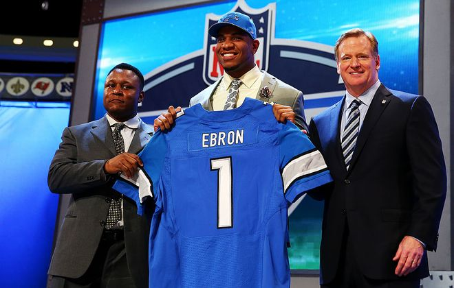 The Lions drafted Eric Ebron 10th overall in 2014. (Photo by Elsa/Getty Images)
