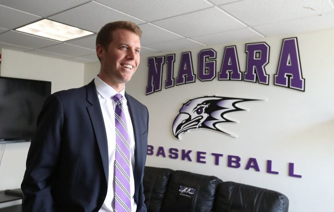 Patrick Beilein is the 22nd head coach of the Niagara University Purple Eagles. (James P. McCoy/News file photo)