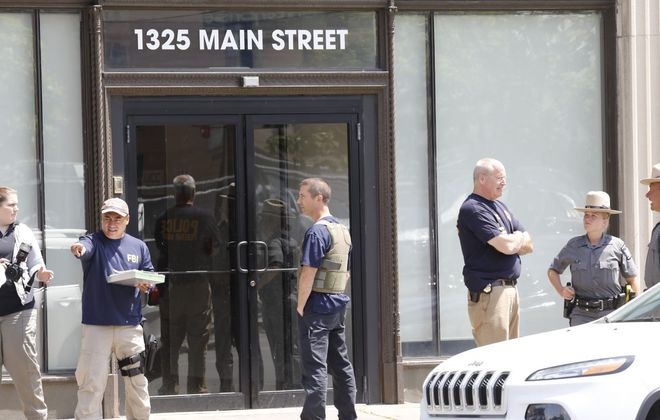 The FBI searched the offices of the Urban Chamber of Commerce, shown here, in June 2017 and the offices of the Grassroots political club. Three sources interviewed by FBI agents focusing  on the Community Action Organization say the agents want to know about any CAO links with Grassroots. (Derek Gee/The Buffalo News)