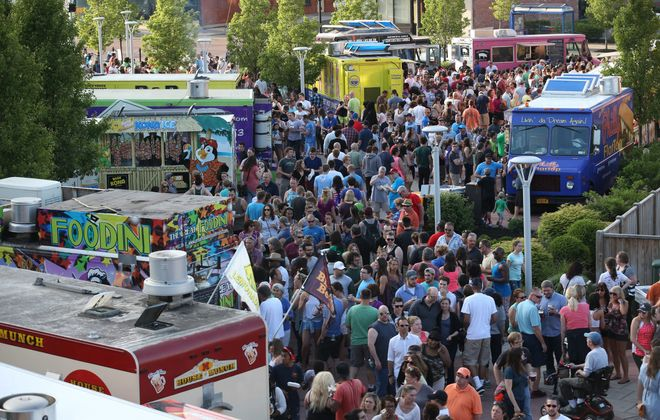 Food Truck Tuesday returns to Larkin Square on April 23. (Sharon Cantillon/Buffalo News file photo)