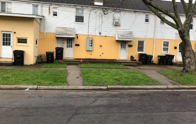 """Police say a """"suspicious death"""" occurred at this home in the Sheridan-Parkside neighborhood in the Town of Tonawanda. (Stephen T. Watson/Buffalo News)"""