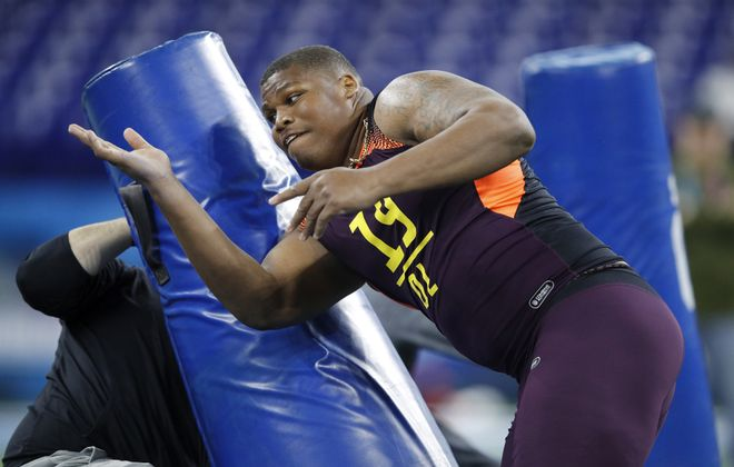 Alabama defensive tackle Quinnen Williams is No. 2 on our composite top 100 list for the NFL Draft.  (Joe Robbins/Getty Images)