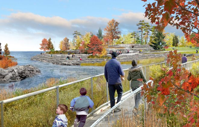 A lagoon is planned for the southern end of LaSalle Park.