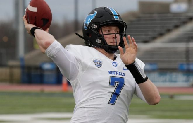 UB quarterback Kyle Vantrease (Harry Scull Jr./Buffalo News)