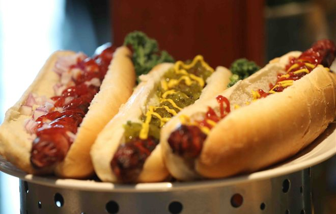"It will be ""hot dog mania"" at newly named Sahlen Field this season. (James P. McCoy/Buffalo News)"