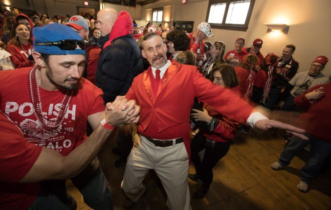 Get a little weird on Dyngus Day, especially with the Adam Mickiewicz Library dance party. (Chuck Alaimo/Special to The News)