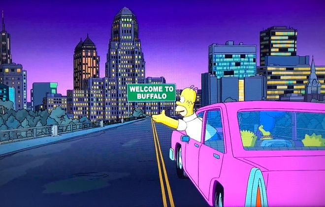 """A screen shot from this week's upstate New York-centric episode of """"The Simpsons."""""""