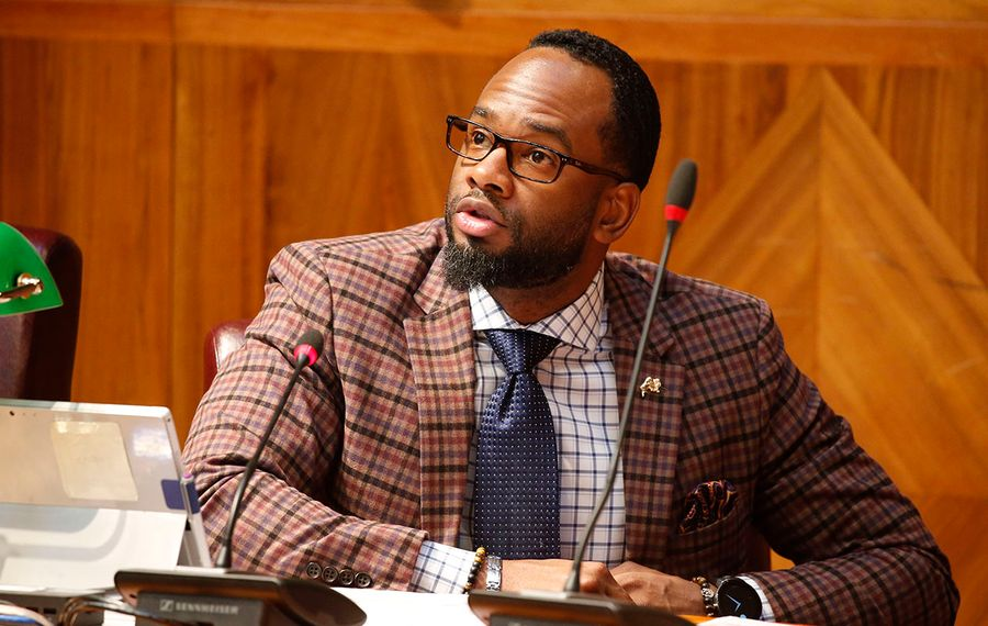 """Masten Council Member Ulysees O. Wingo says he began carrying a gun after an ugly episode outside his own home. He witnessed an attempted murder and after testifying about it in court, someone shot up his car. """"That sends a very strong message,"""" he said. (Derek Gee/News file photo)"""