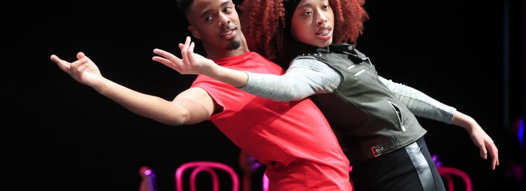 "Brian Brown (Youth) and Tianna Livingston (Marianna) star in Ujima Theatre's ""Passing Strange."" (Harry Scull Jr./Buffalo News)"