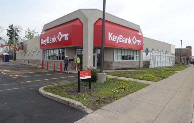 KeyBank's new East Side branch is moving toward a June 3 opening. (John Hickey/Buffalo News)