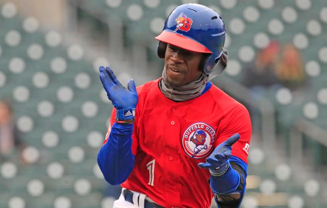 Jonathan Davis got the job done in the outfield again for the Bisons (Harry Scull Jr./News file photo)