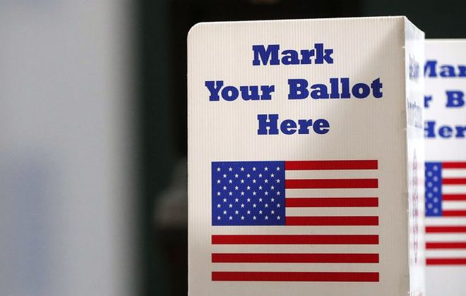 You won't mark your school election ballot at the polls this year. (News file photo)