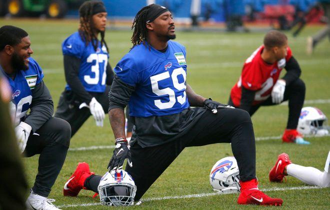 Former Bills defensive end Eli Harold. (Harry Scull Jr./Buffalo News file photo)