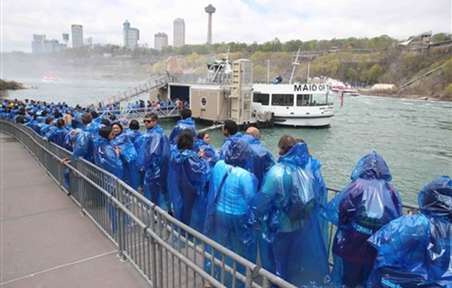Crowding like this line, seen on Memorial Day weekend 2019, won't be part of the Maid of the Mist experience in 2020. (John Hickey/Buffalo News)