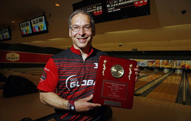 Jack Jurek defeats Mike Zarcone 623-621 to win the Obenauer Masters at the AMF Lancaster Lanes in May (Harry Scull Jr./News file photo)