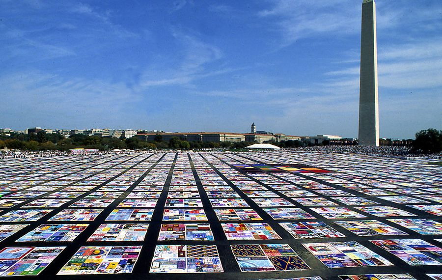 AIDS Memorial Quilt at the National Mall in Washington. (Mark Thiessen, Courtesy of The Names Project)