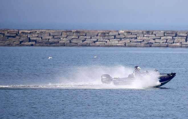 Lake Erie temperature at Buffalo remains on the cool side. (Mark Mulville/Buffalo News)