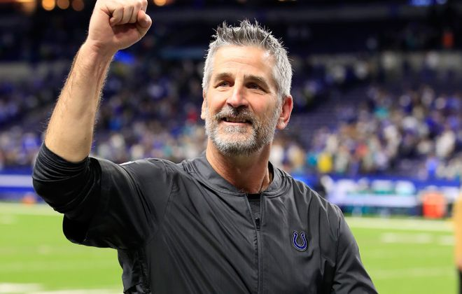 Frank Reich led the  Indianapolis Colts to the playoffs in his first season as head coach. (Andy Lyons/Getty Images)