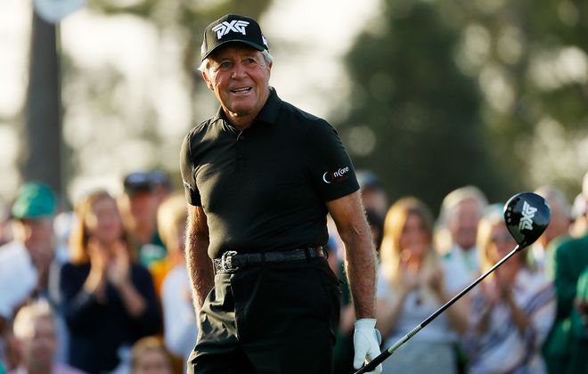 Gary Player at the Masters at Augusta National Golf Club on April 11, 2019. (Getty Images)