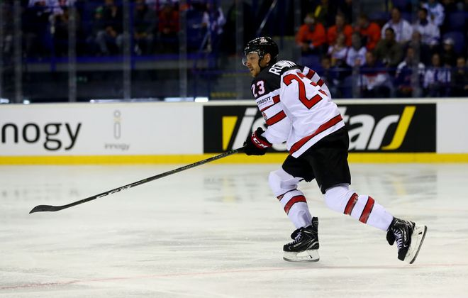 Sabres winger Sam Reinhart skates against Finland during the 2019 IIHF Ice Hockey World Championship preliminary round game. (Getty Images)